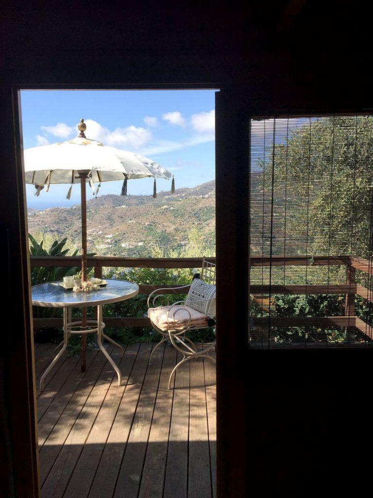 Meerblick von der Terrasse - Casita Kidogo auf einer Finca zwischen Frigiliana und Torrox