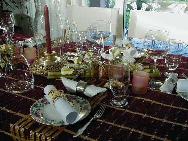 Events im Casa Simba in Estepona, Marbella - Tischdeko